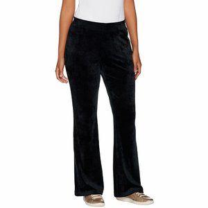 Anybody Petite Velour Flare Pants Lounge Black